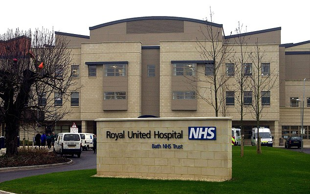 Horrific: The girl was taken to the Royal United Hospital in Bath following the accident but sadly later died