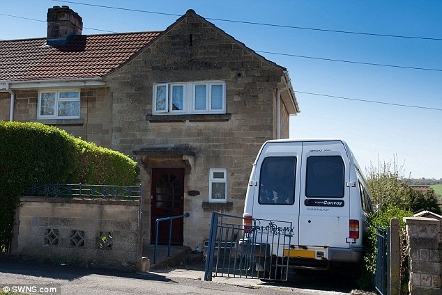 Accident: Surranna died under the weight of the falling debris just yards from where her father Karl was working at the family home in Bath, pictured