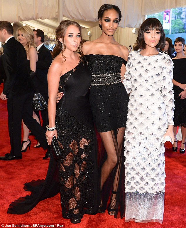 Style sisters: Chloe Green, Jourdan Dunn Ashley Madekwe all looked amazing in their Tophop creations