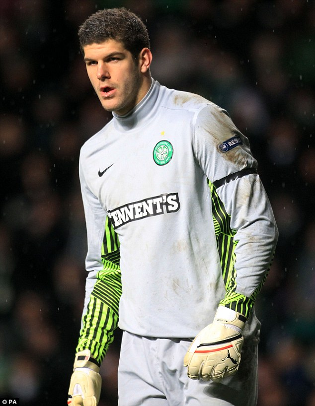 Top signing: Fraser Forster signed for Celtic last year for £2m