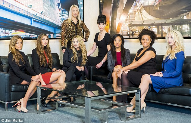 One of the girls: Leah and her fellow female candidates on The Apprentice