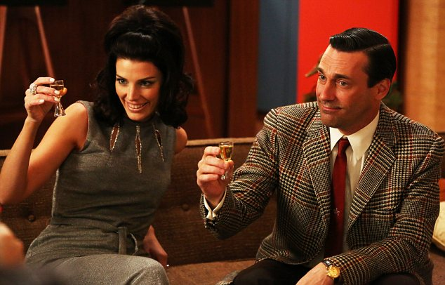 Contrast: The stylish characters of TV's Mad Men hardly need lessons in how to behave