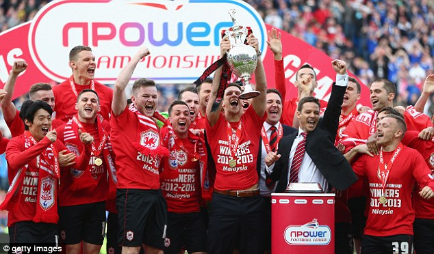 League champions: Malky Mackay's side comfortably topped the Championship