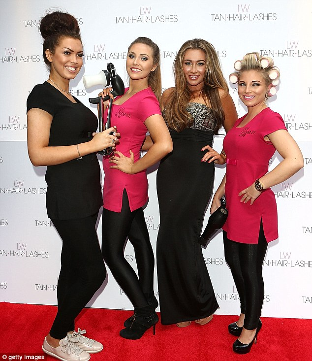 Don't let these girls near you, unless you want a make-over of course! Lauren poses with her Essex Angels