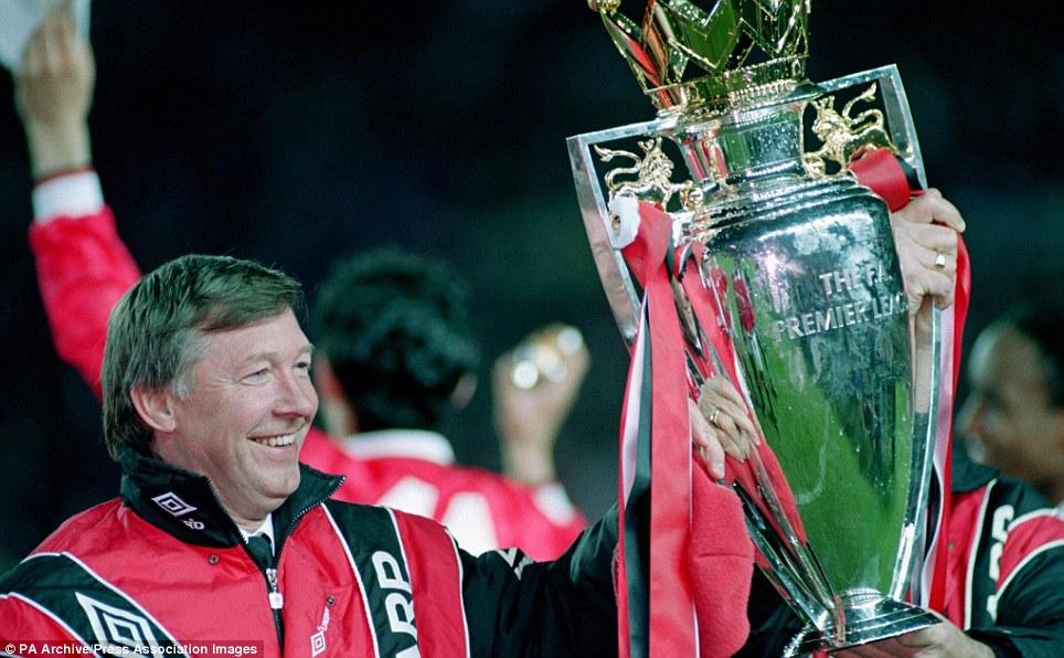 Ferguson with Premier League trophy 1993