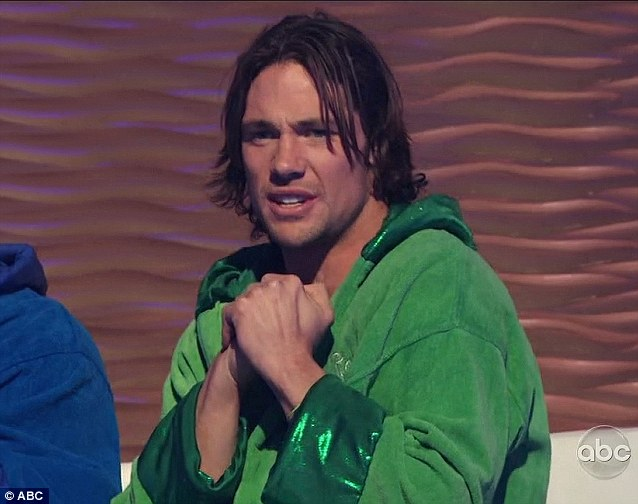 Ouch: Her competitor Rory looked on in horror after seeing her splash
