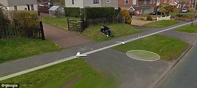 This image a couple canoodling was one of the first Google Streetview sensations