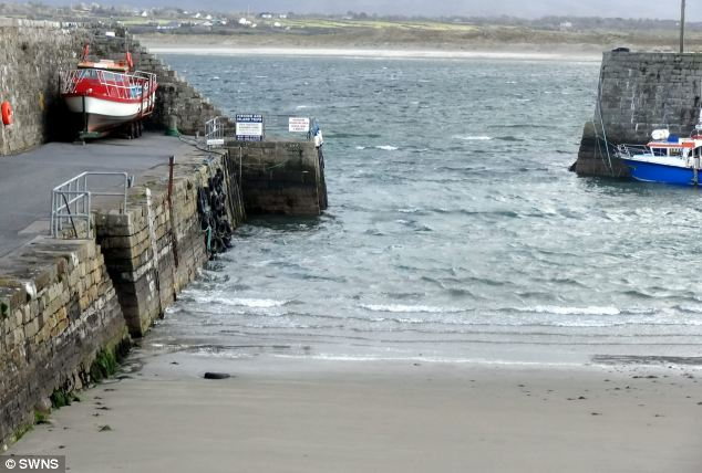 Matthew swan-dived into rocks at the end of the small pier (pictured) in Sligo when he was on holiday with fellow welder friends in 2011.