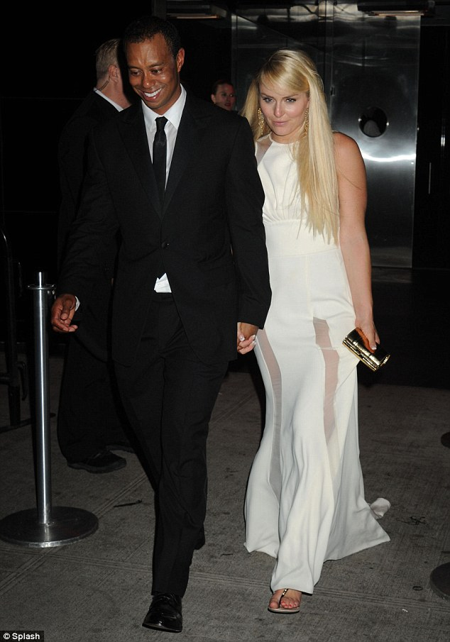 Wild tiger: Tiger is said to have fallen over at the afterparty and angered his girlfriend Lindsey