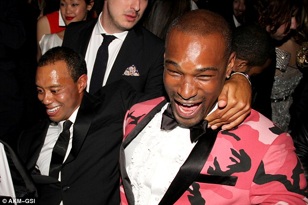 Big hitters: Tyson and Tiger hit the dancefloor and looked like they had a great time