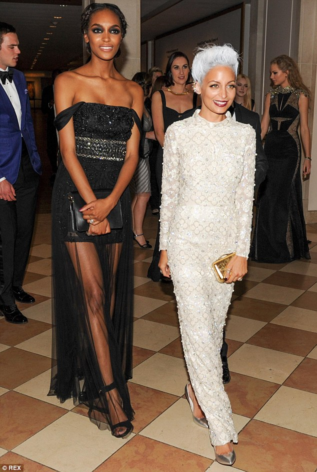 The white witch: Jourdan Dunn and Nicole Richie opted for opposing styles