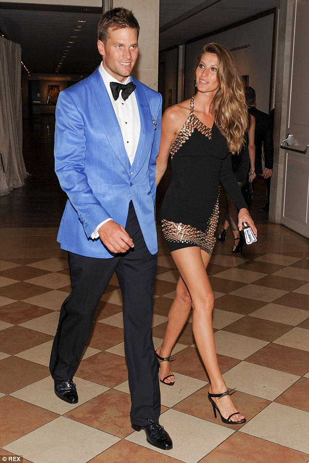 Best dressed: Tom Brady and Gisele Bundchen made a great looking couple