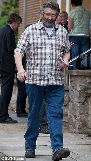 Pictured: Christopher Copeland, 51, leaves Exeter Magistrates court having been accused of keeping more than £500,000 intended for Help for Heroes