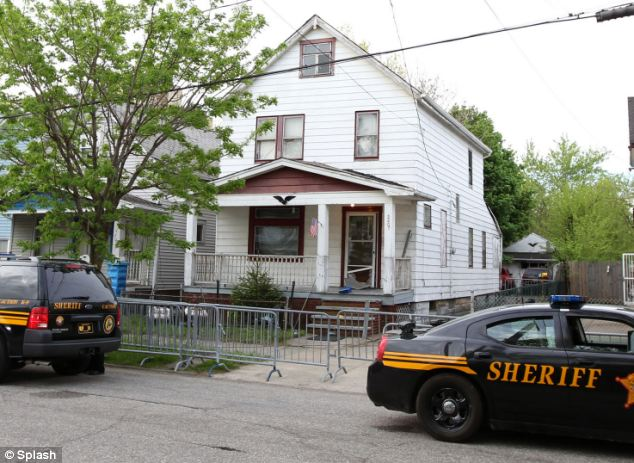 Locked up: Three missing women were found at this home, owned by Castro, in Cleveland on Monday