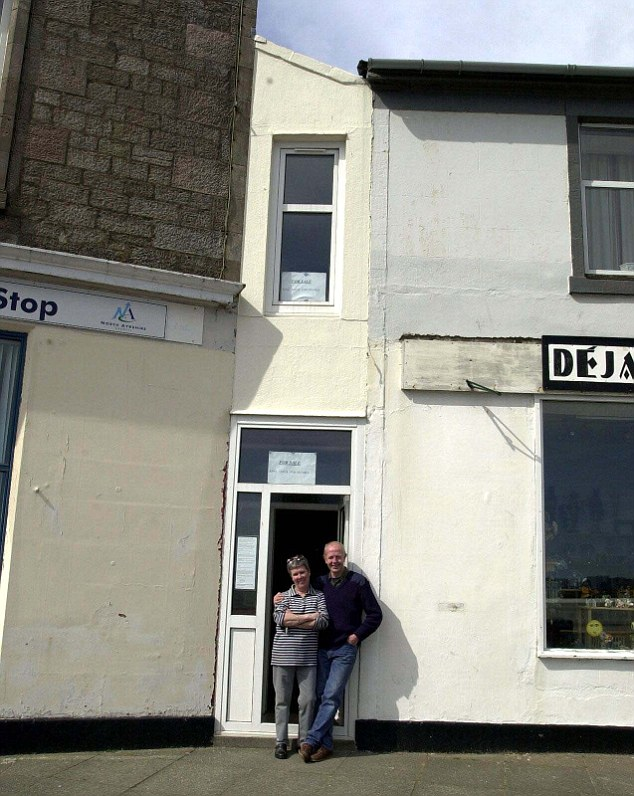 The Wedge house in Millport, on the Island of Great Cumbrae in Scotland is said to have the narrowest front in the world
