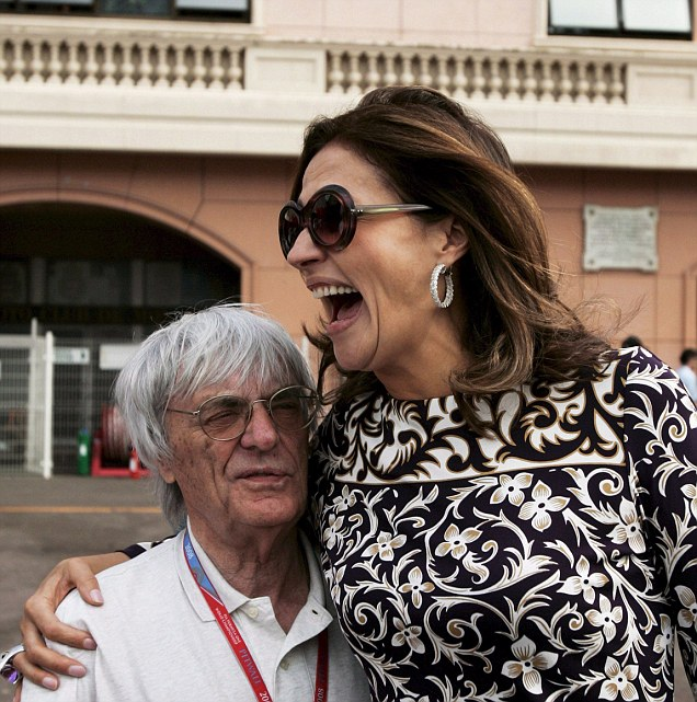 Slavica Ecclestone walked away with around £750 million after her divorce from Formula 1 boss Bernie (left), following a 23-year marriage and two daughters