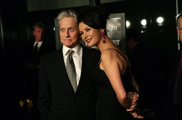 Michael Douglas, at the premiere of Money Never Sleeps, with his wife Catherine Zeta-Jones. His ex-wife is demanding a share of his future earnings despite losing her case in 2010 for a share of Money Never Sleeps