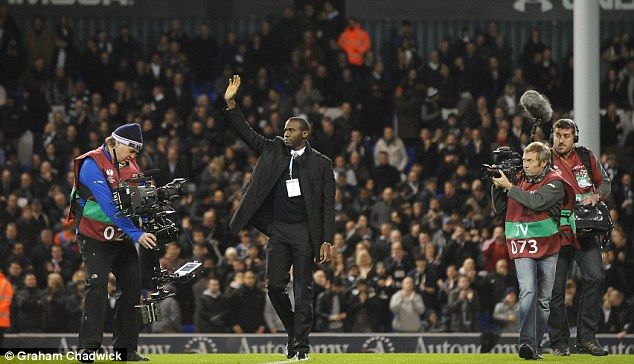 Recovery: Muamba returned to White Hart Lane but has since retired from football