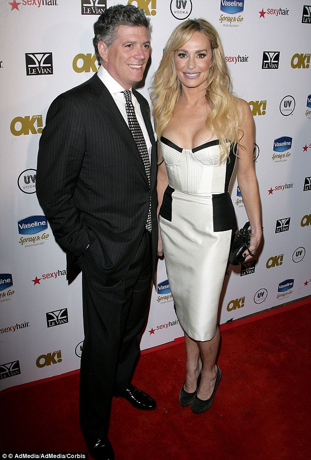 Loved up: Taylor Armstrong and John Bluher attended OK! magazine's annual pre-Oscar event in February