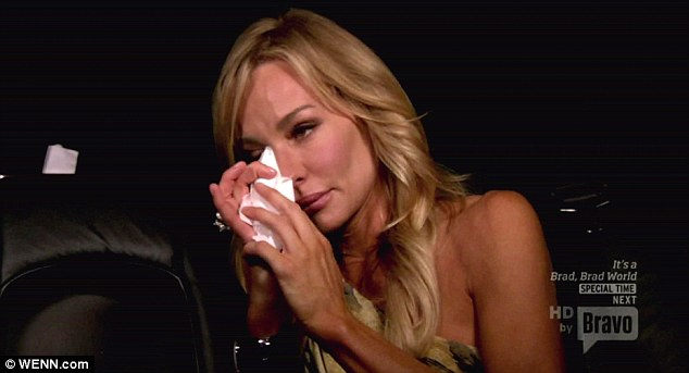 Tough times: Taylor had a tearful moment on the Bravo show during the show's second season