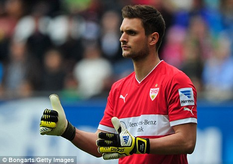 Next in line? Stuttgart's Sven Ulreich has was seen by Arsenal scouts