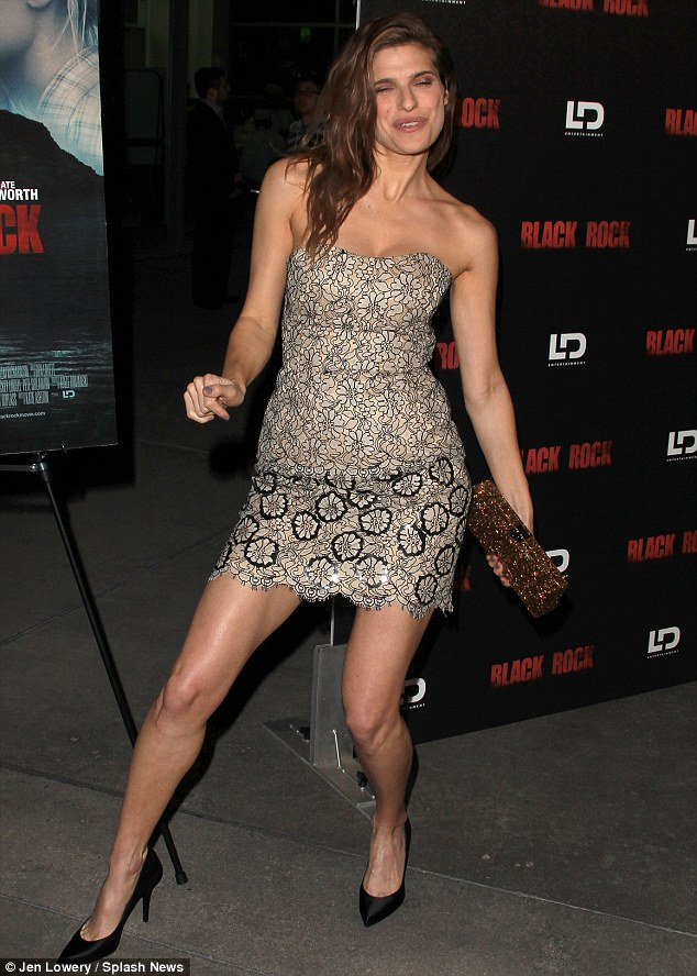 What are you doing? Lake Bell broke out into dance moves at a screening of Black Rock in Los Angeles, California on Wednesday