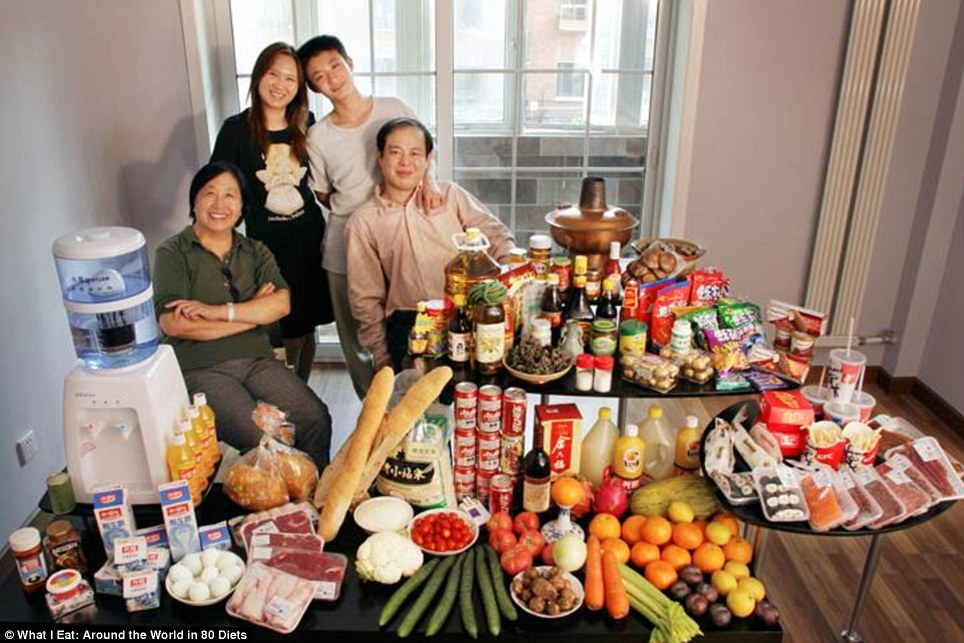 China: The Dong family from Beijing who spend around £99 on food every week