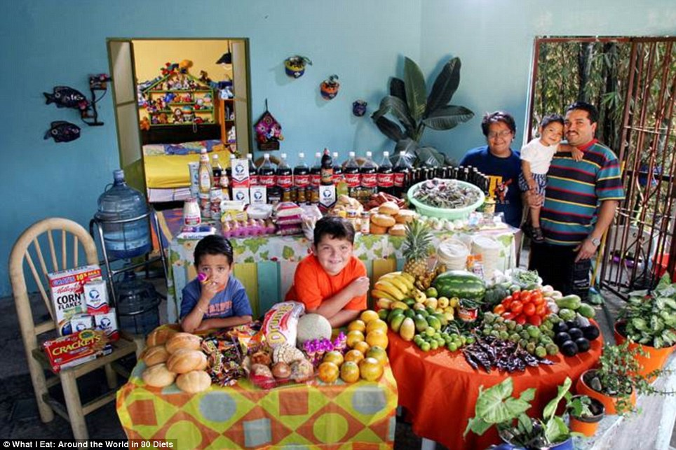 Mexico: The Casales family from Cuernavaca who spend around £115 a week on food