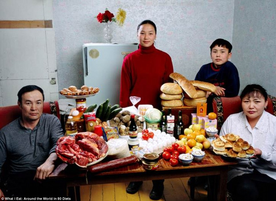 Mongolia: The Batsuuri family of Ulaanbaatar who spend around £25 a week on food
