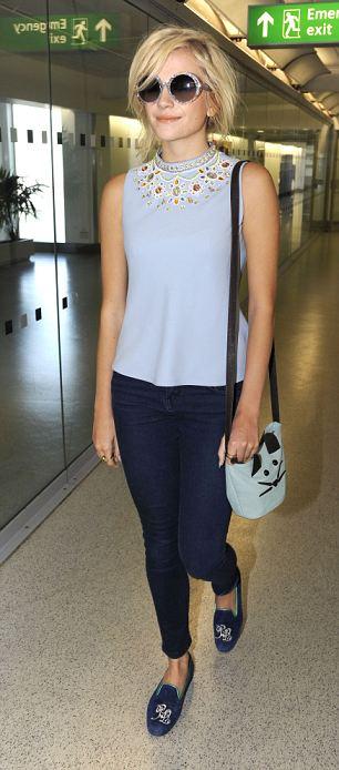 Pixie Lott at Heathrow airport