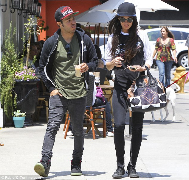 Candid interview: Pete Wentz, shown on Wednesday with girlfriend Meagan Camper, recently opened up about his past drug abuse and fallout from his high-profile divorce from Ashlee Simpson