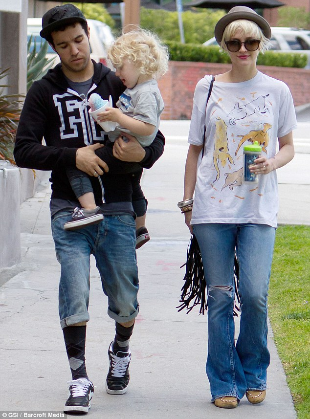 Family time: Pete and Ashlee shown spending some time with their son Bronx in May 2011 in Los Angeles