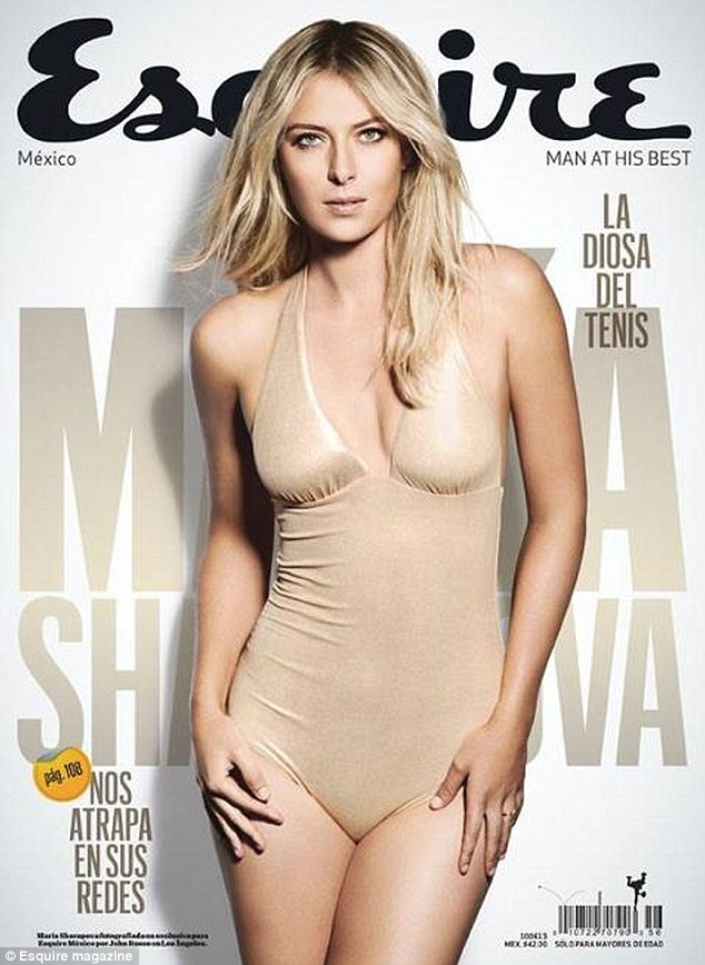 Bombshell: Maria wore a nude bodysuit on the cover of Esquire Mexico for this month's May issue