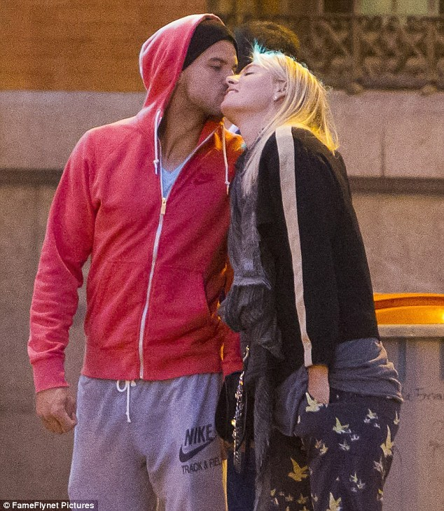 Passionate: Maria closed her eyes and smiled as Grigor kissed her cheek