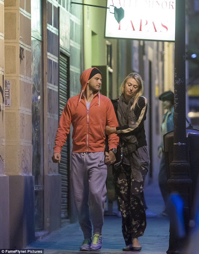 Young lovers: The two walked through the charm of Madrid like any pair of young lovers