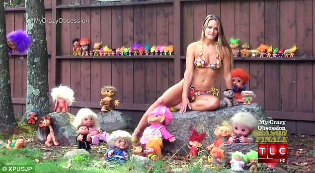 My crazy troll obsession: Michelle Kerrins owns over 3,000 toy troll dolls, which she showcased on TLC's My Crazy Obsession