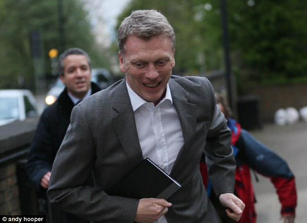United front: Moyes was in London yesterday to speak with Everton owner Bill Kenwright