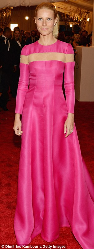 Gushing: Gwyneth Paltrow has admitted she was blown away by supermodel Miranda Kerr's 'abnormal' beauty when they walked the red carpet at the 2013 Met Ball on Monday night