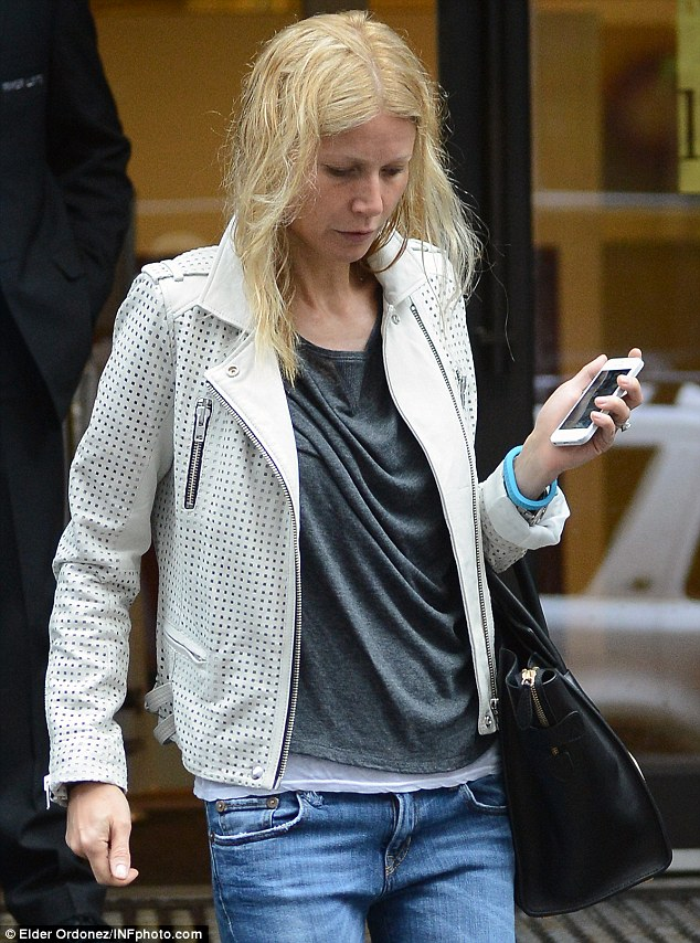 Au naturel: Gwyneth was named People magazine's Most Beautiful Woman in the World last month, but insisted she is used to having 'frizzy hair' and wearing 'no make-up'