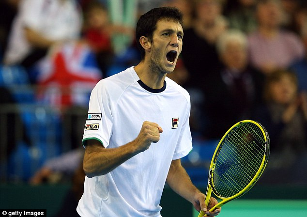 Career-defining win: James Ward also pulled off a spectacular win over Dmitry Tursunov