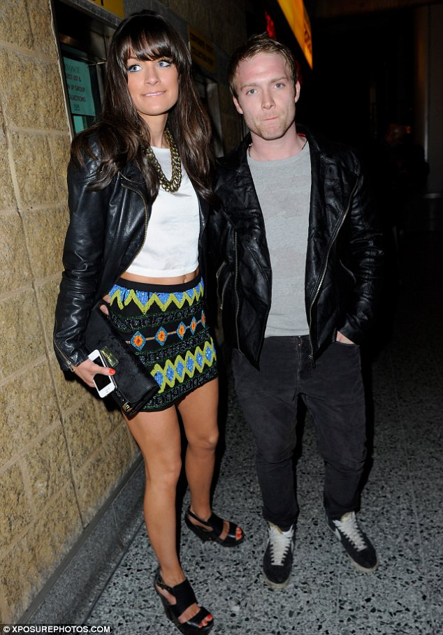 Date night: Coronation Street actor Chris Fountain took his girlfriend to the music event
