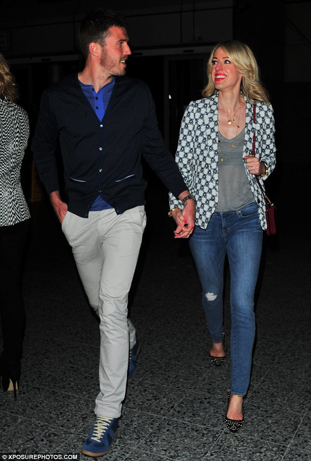 WAG worthy: Michael Carrick and his wife Lisa also attended the show