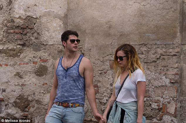 Young love: Rumer and boyfriend Jayson Blair were spotted in Guatemala in early May celebrating his parents' 35th wedding anniversary