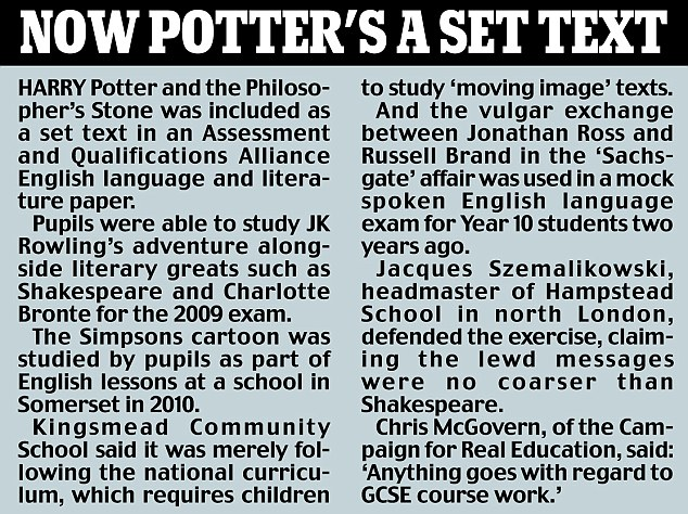 Potter's a set text
