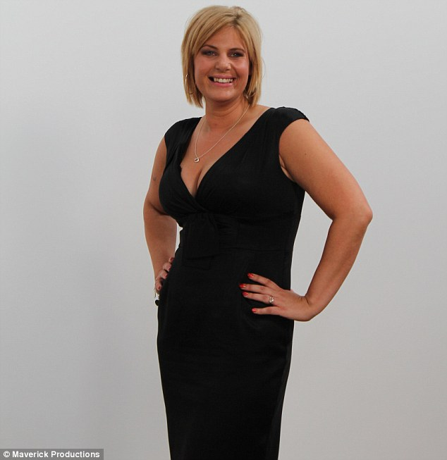 New look: Claire is delighted she can now show off her cleavage