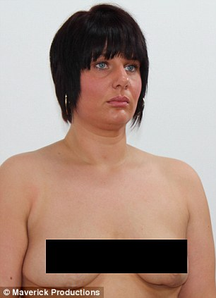 Ordeal: Claire following surgery to remove infected breast tissue and implants after her first operation that went wrong, left, and after corrective surgery that has made her 'feel like a woman' again