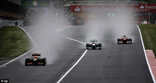 Spray: This morning's first practice session was hit by a downpour