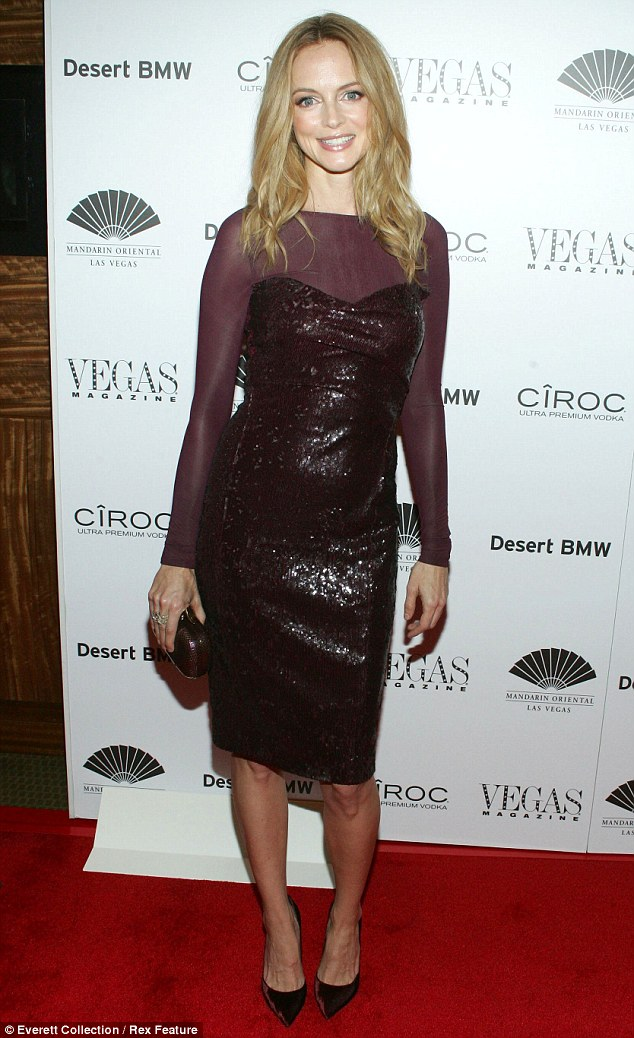 Sexy in sequins: Heather Graham slipped into sexy sequins to celebrate her latest magazine interview and cover at the Vegas Magazine 10th Anniversary cover issue party in Las Vegas