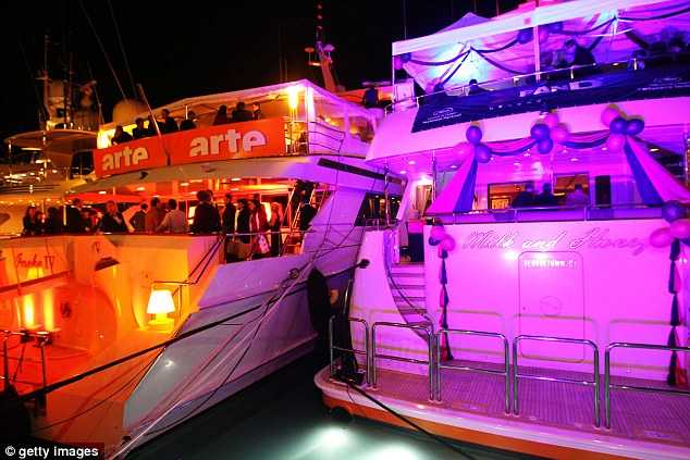 Targeting luxury yachts: Some of the 'luxury prostitutes' fly into Cannes from Paris, London, Venezuela, Brazil, Morocco and Russia to take advantage of the film festival