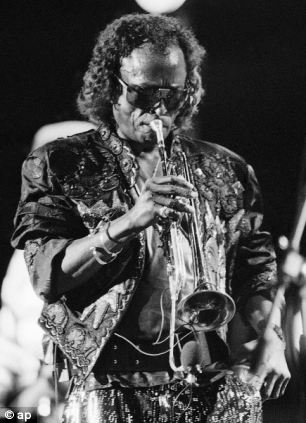 Miles Davis plays his trumpet during the annual North Sea Jazz Festival held in the Hague Netherlands